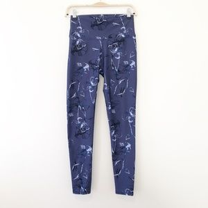 Fabletics Floral PowerHold Leggings Size Small